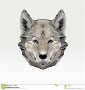 Vector Portrait Of Wolf Polygonal. Triangle Dog ...