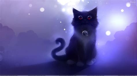 green cat photo collection black cat anime wallpaper