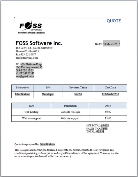 invoice  quotation software  small businesses