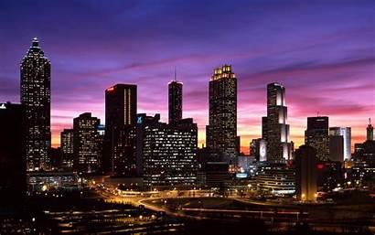Skyline Atlanta Downtown Georgia Desktop Background Night
