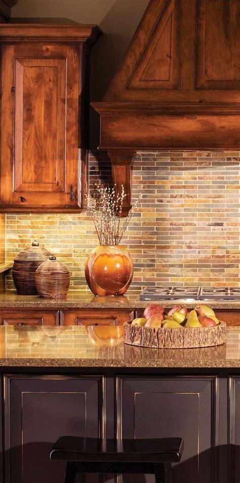 rustic backsplash for kitchen rustic kitchen design by dura supreme cabinetry gourmet