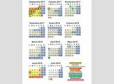 Calendario escolar 201718 vs calendario laboral festivos