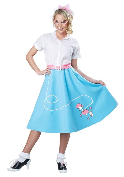 blue  poodle skirt  women costume
