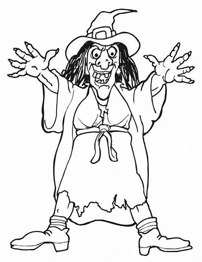 Witch Coloring Pages Witches Colouring Halloween