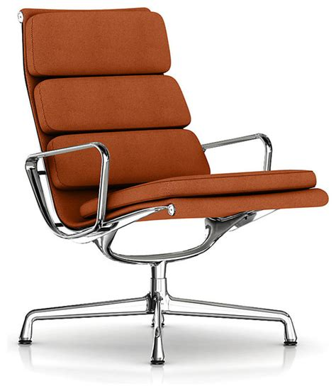 eames soft pad lounge chair swivel base fabric