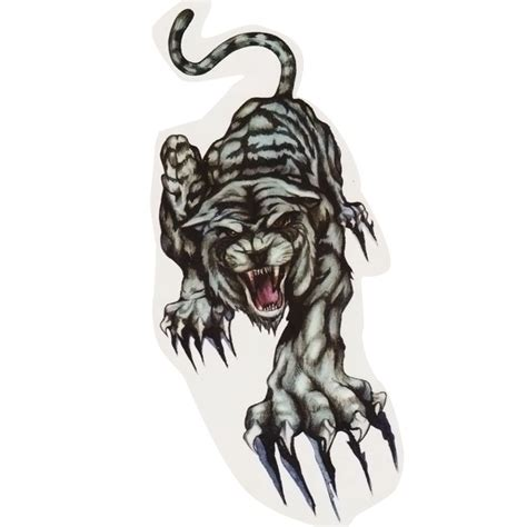 Crouching Tiger Temporary Fake Tattoos Stickers Body Art