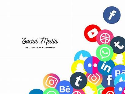 Social Background Icons Banner Network Vector Web