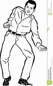 Sketch Of A Guy Singing And Dancing The Twist Stock Images ...