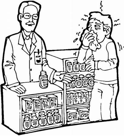 Pharmacy Coloring Farmacias Dibujos Colorear Sketch Pretende