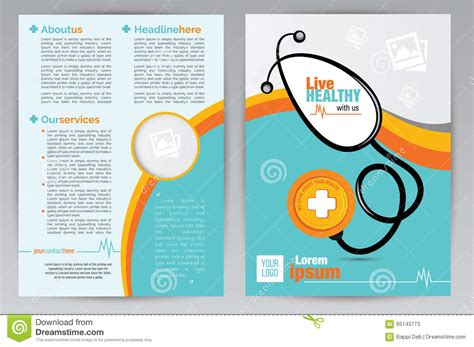 healthcare brochure templates free download medical a4 brochure design template medical a4 both side