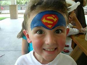 Superman+face+painting | Face Painting Photos | Face ...