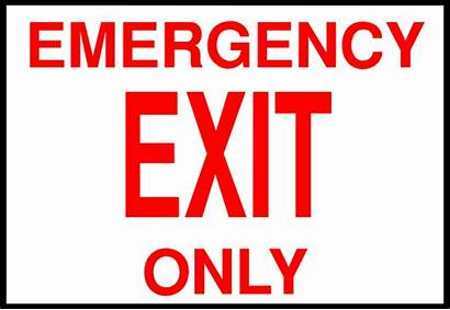 Exit Emergency Sign Clipart Illustration Clip Signs