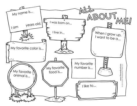 all about me worksheets black and white versions 607 | 67cbd91e35579f5d504e24883b7d6127