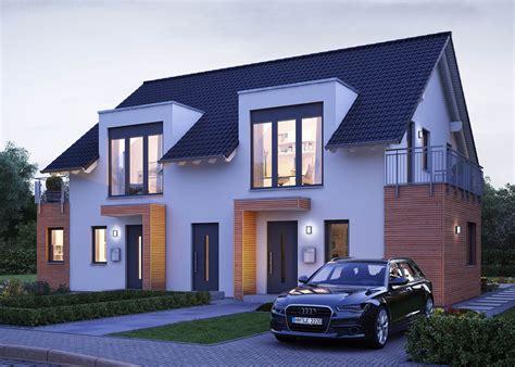 Doppelhaus Mit Massa Haus  Doppelfertighaus Individuell
