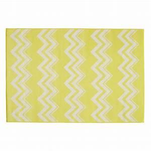 Tapis d39exterieur en polypropylene jaune 160 x230 cm for Tapis d extérieur en polypropylène