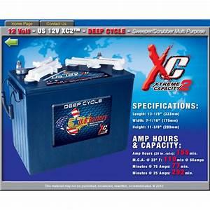 4 X Us Battery 12v 12volt 36v Golf Cart Batteries For