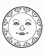 Coloring Pages Sun Aztec Sunscreen Calendar Drawing Print Colouring Suns Getcolorings Printable Getdrawings Moons Popular sketch template