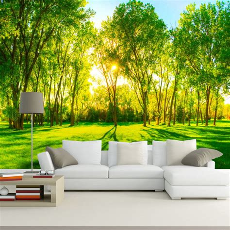 3d Wallpapers Trees by Forest Trees Photo Wallpaper Custom 3d Wallpaper
