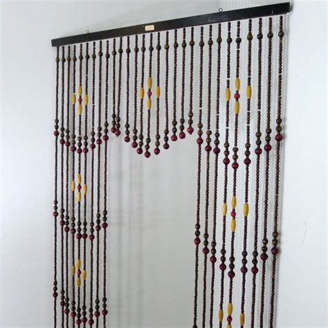 vintage wooden bead curtain beaded curtain room divider