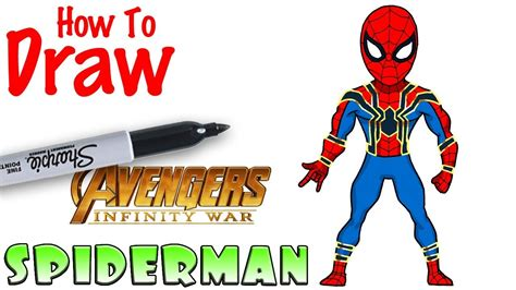 draw spiderman avengers infinity war youtube