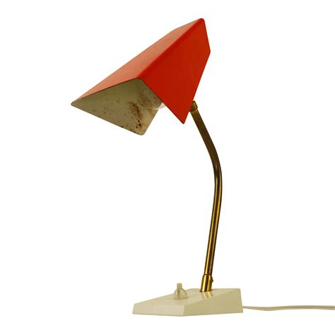 red light desk l red desk light by j hoogervorst for anvia almelo 1960s