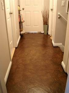 faux leather flooring out of crumpled paper bags d i y With paperbag floor