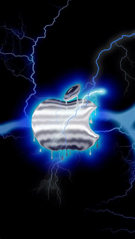 download apple blue lightning 640 x 1136 wallpapers