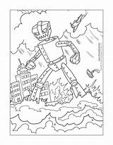 Robot Coloring Colouring Printable Printables Paper Printing Timvandevall Thevillageanthology sketch template