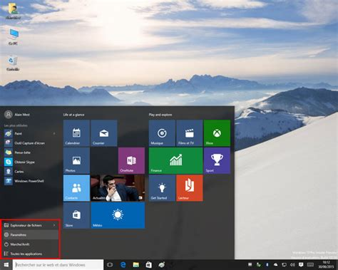 bureau disparu windows 7 windows 10 build 10061