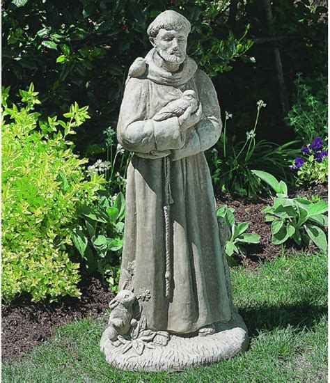 st francis garden statue st francis with animals garden statue garden statues at