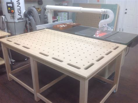 mftoutfeedclamping table woodworking workbench