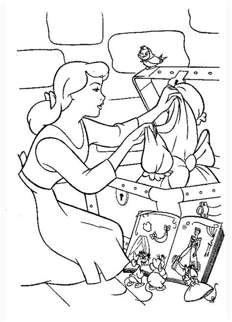 cinderella coloring pages    print