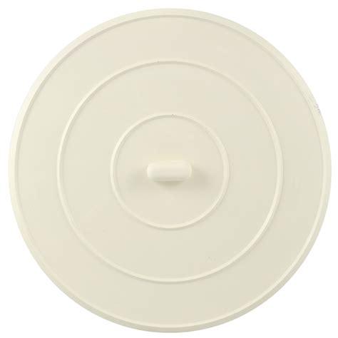 flat rubber sink stopper 5 in flat suction sink stopper in white danco