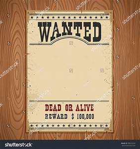 Wanted Poster On Wood Wall Texture Stock Vector 398235220 ...
