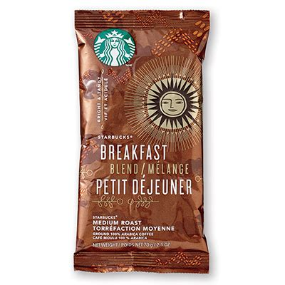 Our coffee masters have distilled their years of tasting knowledge down to three simple questions to help you find a starbucks coffee you're sure to love. Starbucks Breakfast Blend Portion Packs (2.5 oz x 18) - Planet Coffee Roasters