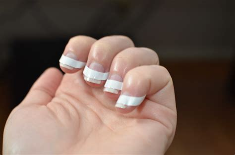 diy french tip gelshellac nails warfieldfamily
