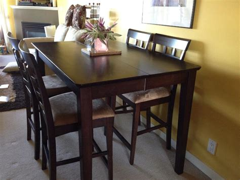 pub height dining table with 8 chairs surrey incl white