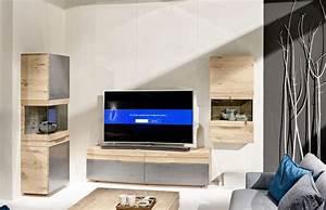 Rounded Designer Oak Entertainment Unit Modern Oak TV