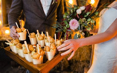 winter wedding food drink ideas sandhole oak barn