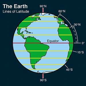 Clip Art  Earth  Lines Of Latitude Color