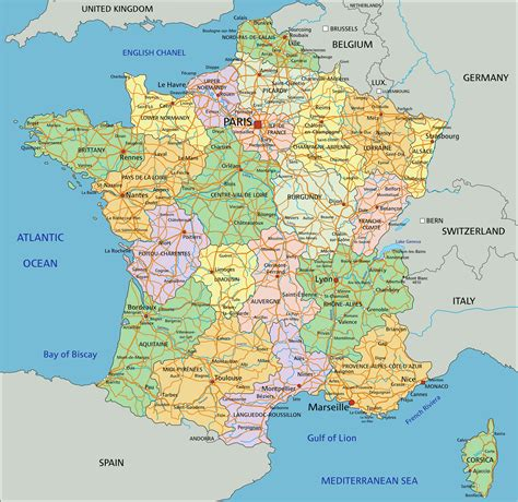 map  france  regions  travel information