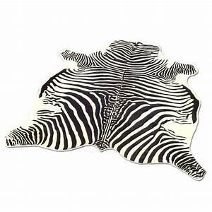 Tapis zebre peau de vache imprimee motif zebre achat for Tapis motif zebre