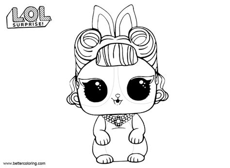 lol surprise pets coloring pages jitter critter