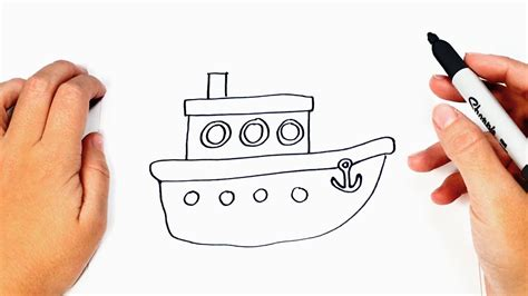 How To Draw A Boat Easy by How To Draw A Boat For Boat Easy Draw Tutorial