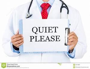 Quiet Please Sign Clipart