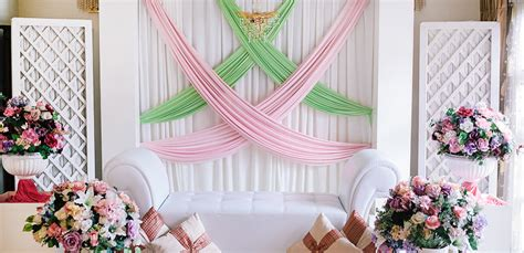 inspirasi dekorasi sederhana  cantik stacie bridal