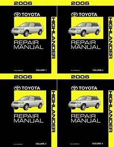 2006 Toyota Highlander Shop Service Repair Manual Complete