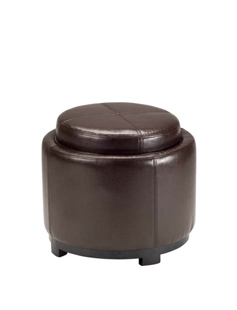round storage ottoman with tray ottoman tray coffee table round modern home interiors