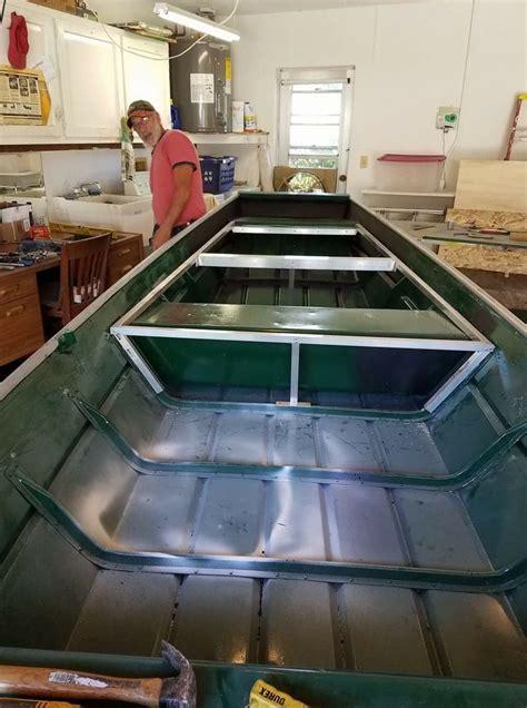 Diy Fishing Boat Deck by 19 Best Jon Boat Deck Build Images On Pinterest Deck