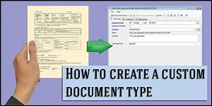 How to Create a Custom Document Type